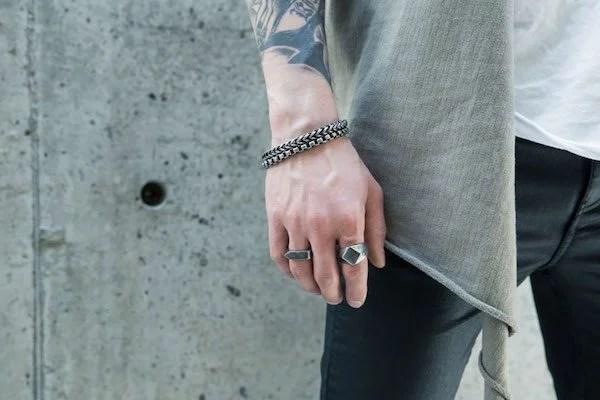 anel masculino como usar
