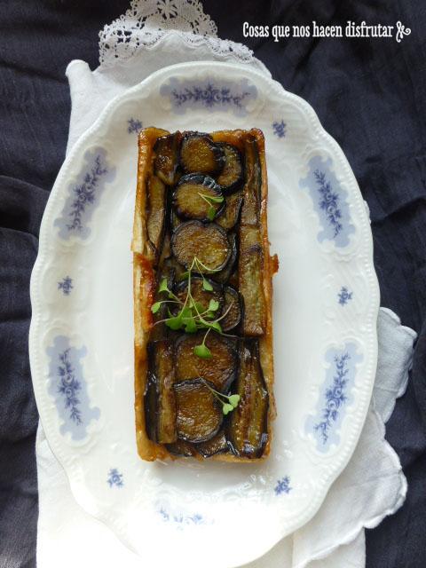 Sorprendente Tatín o Tarta de Berenjenas y cebolla caramelizada (3)