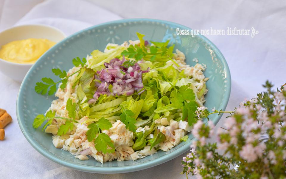 Receta Juliana verde con pescado asado