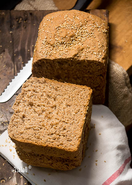 Pan de molde con suero y prefermento