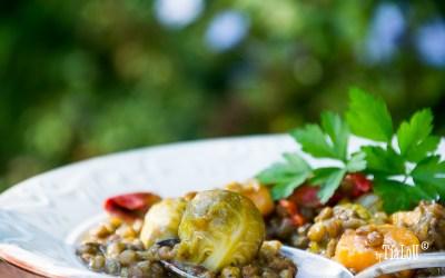 Lentejas con verduras de temporada