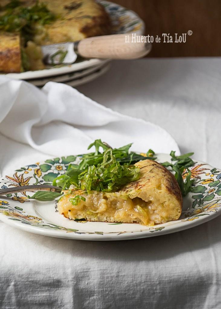Tortilla de patatas y puerro_