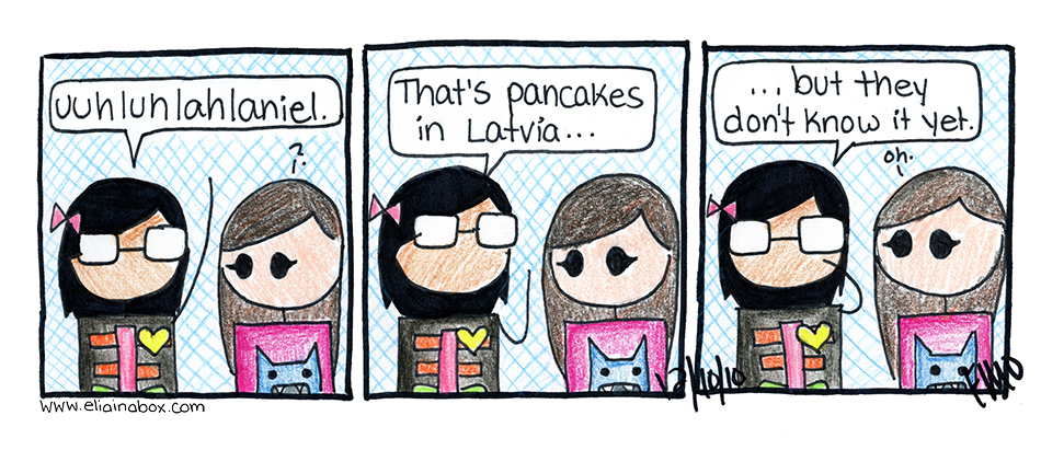 Pancakes in Latvia