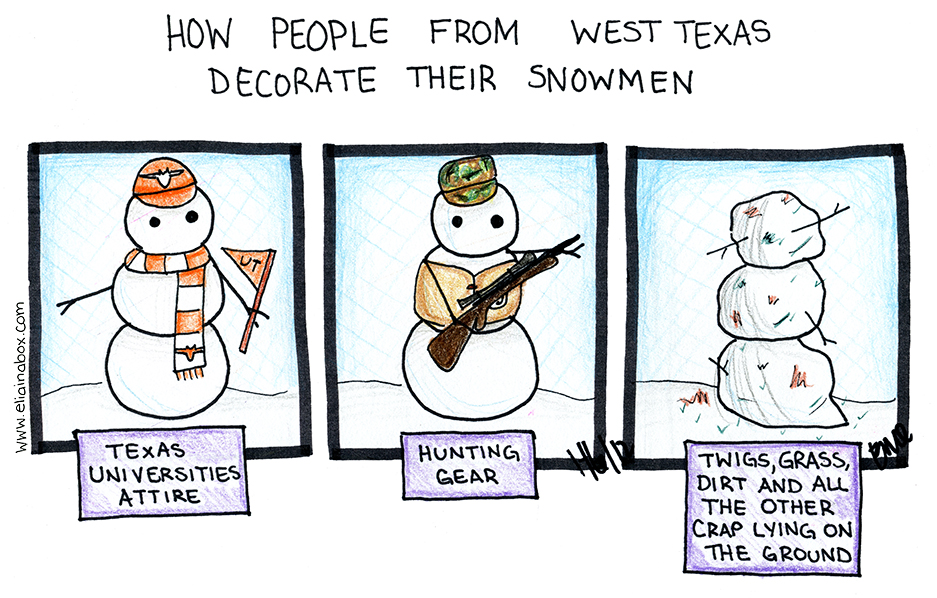 West Texas Snowmen