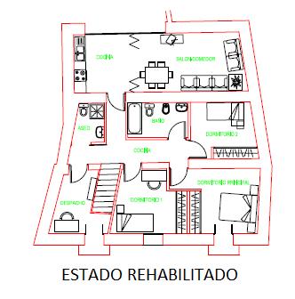 Rehabilitación de vivienda. Estado rehabilitado