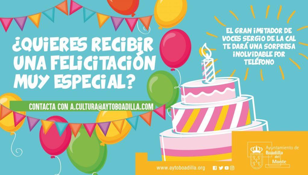 Boadilla felicita los cumpleaños durante el confinamiento
