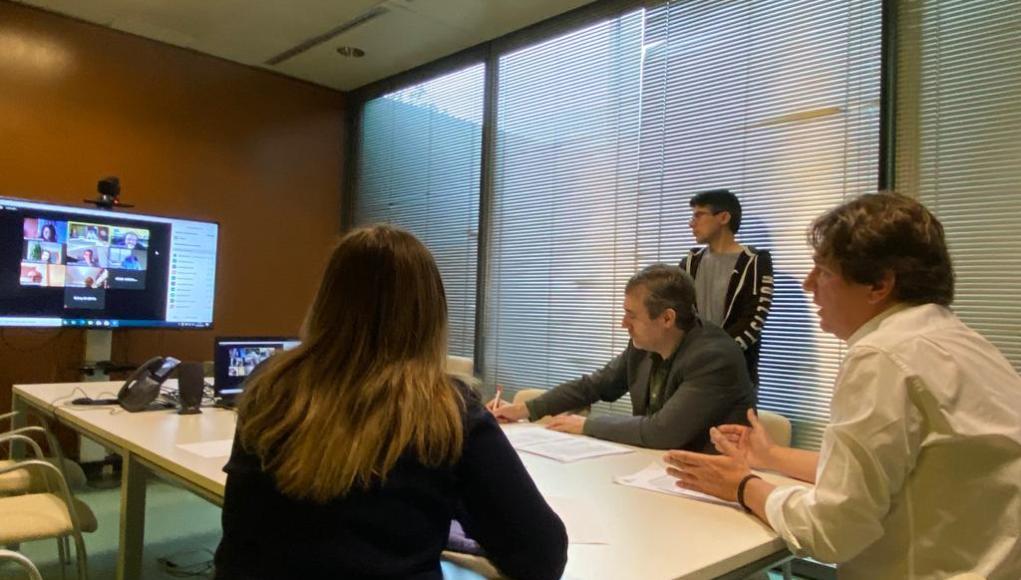 El alcalde de Fuenlabrada se reúnen con empresarios,autónomos y comerciantes