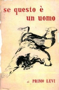 Original cover of Primo Levi's book in Italian.