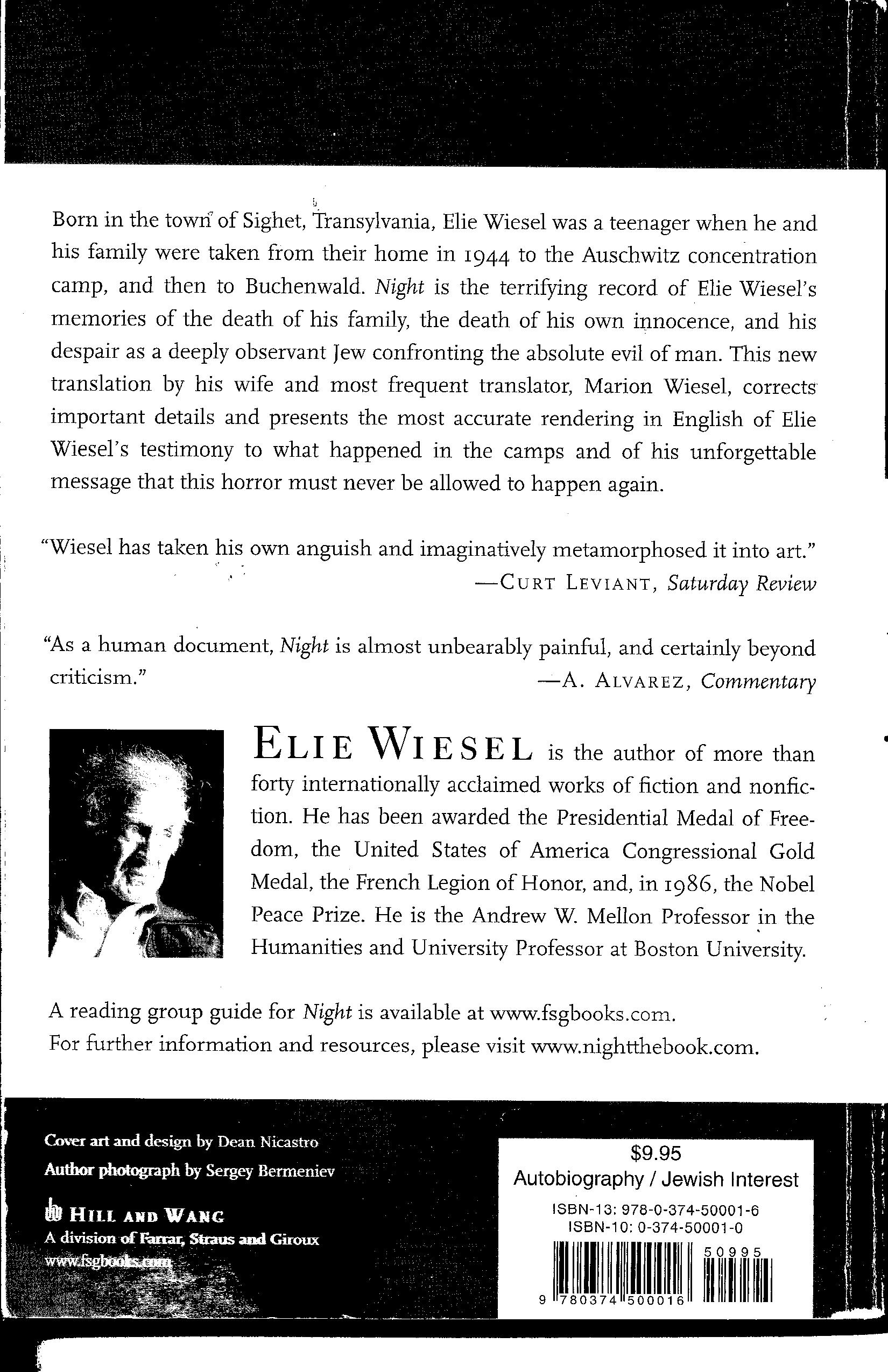 The Truth About Night Why It S Not Elie Wiesel S Story