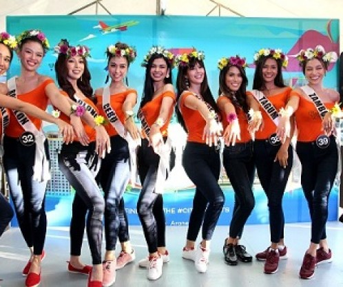 Binibining Pilipinas candidates at the recent plant and flower workshop