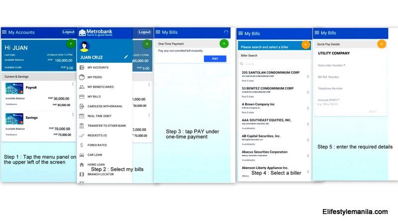 Metrobank online app