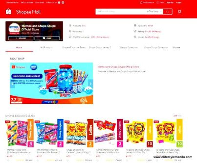 mentos products in Shopee