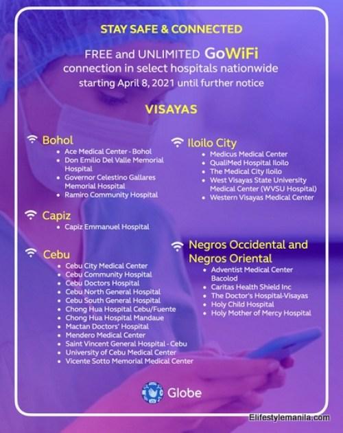 Globe Telecom FREE Go WiFi spots