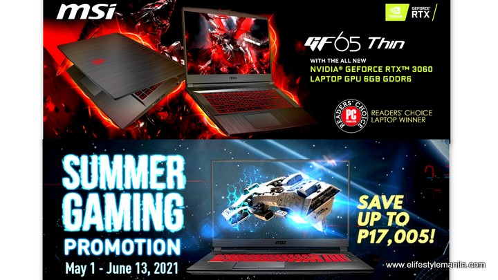MSI Gaming laptop summer sale