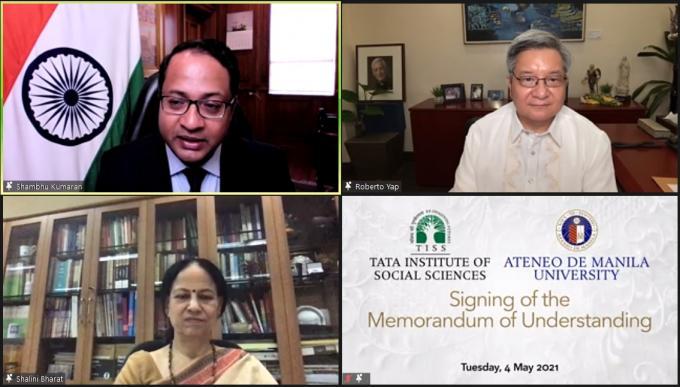 Ateneo de Manila and Tata Institute of Social Studies partners in disaster management studies.