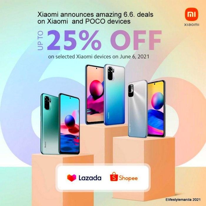 Xiaomi 6.6 midyear sale in Shopee and Lazada