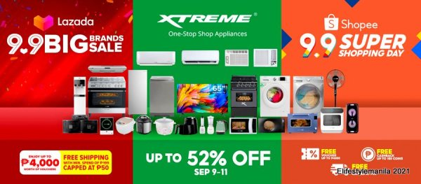 XTREME Appliances 9.9 Sale in Shopee and Lazada