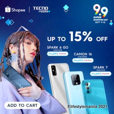 TECNO Mobile Shopee 9.9 sale