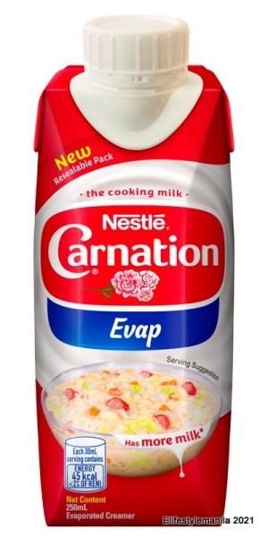 Nestle carnation evap resealable pack
