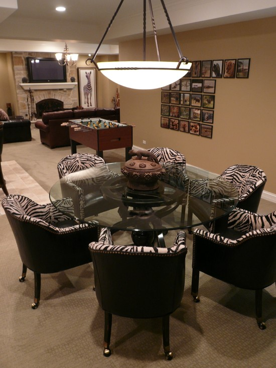 Game Table Fireplace Art (Chicago)