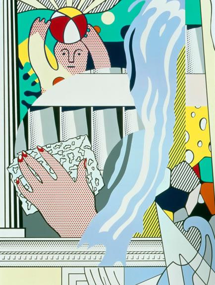 Mural-With-Blue-Brushstroke-by Roy-Lichtenstein