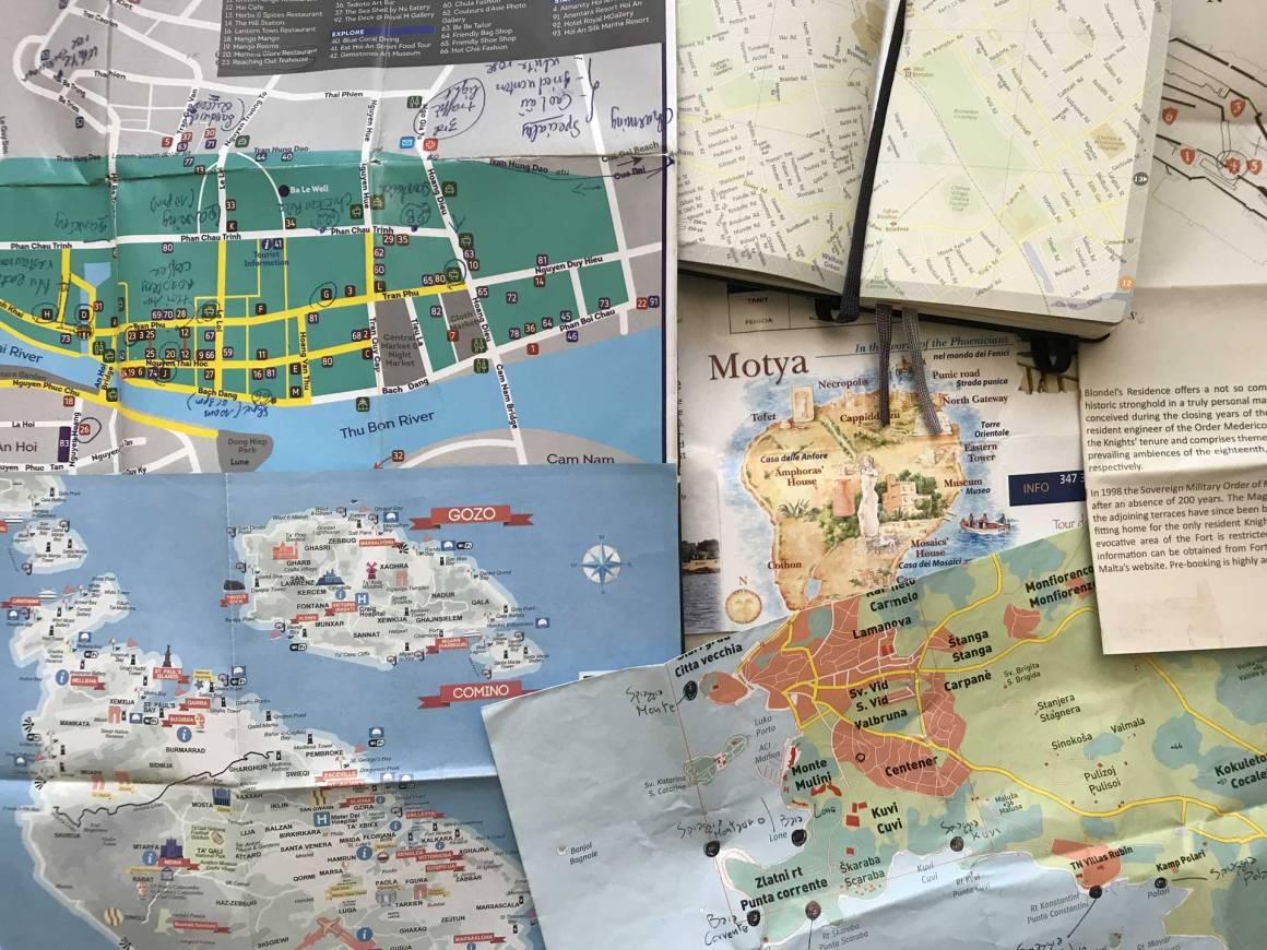 Piccole mappe di Malta e Gozo