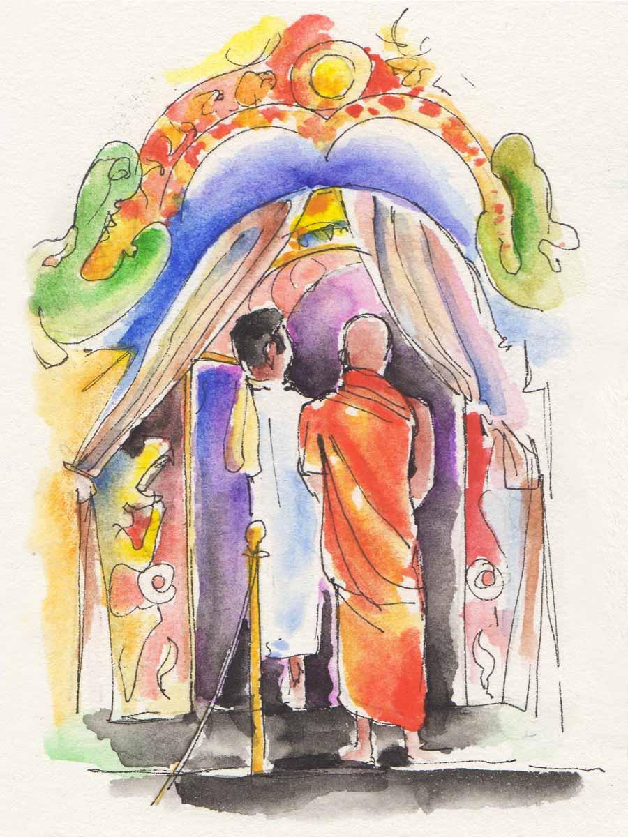 Cerimonia della Puja, Kandy © Luca Braidotti 2019