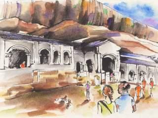 Luca Braidotti disegno Dambulla, Sri Lanka