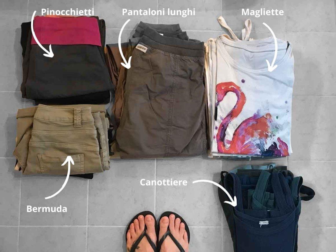 Valigia metodo KonMari - Raggruppare i vestiti