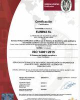 2017 RENOVACION CERTIFICADO ELIMINA ISO 14001