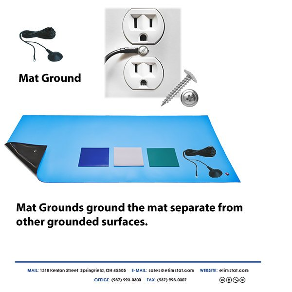 ESD Grounding Method for a Mat Grounding Cable