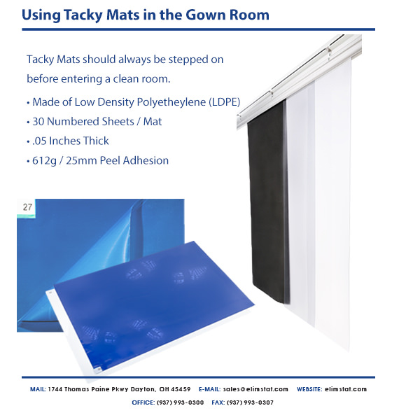 Elimstat.com Cleanroom Sticky Mat Specs