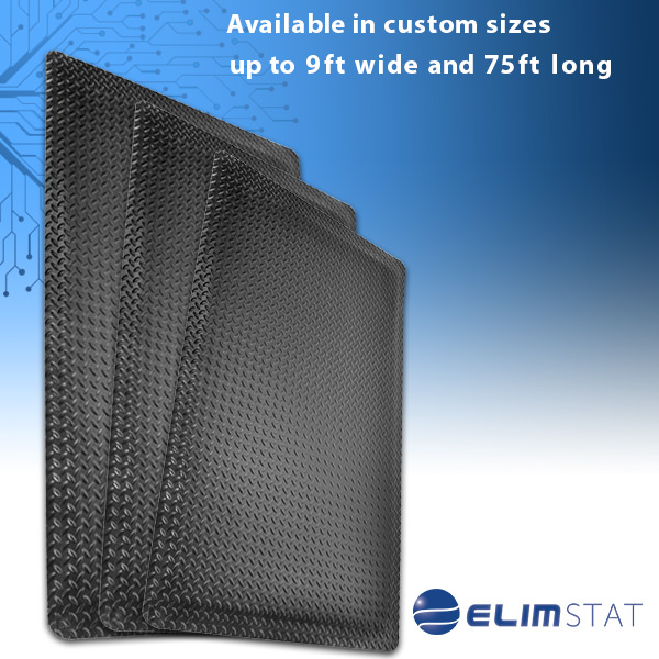 Custom Size Anti Static Floor Mats are available from 9 feet wide to 75 feet long. Call 937-324-1100 for a quote over the phone or fill out the form below.