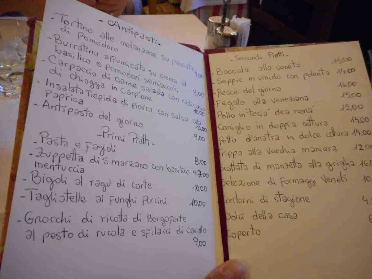 Cena all'Osteria dal Capo (Padova)