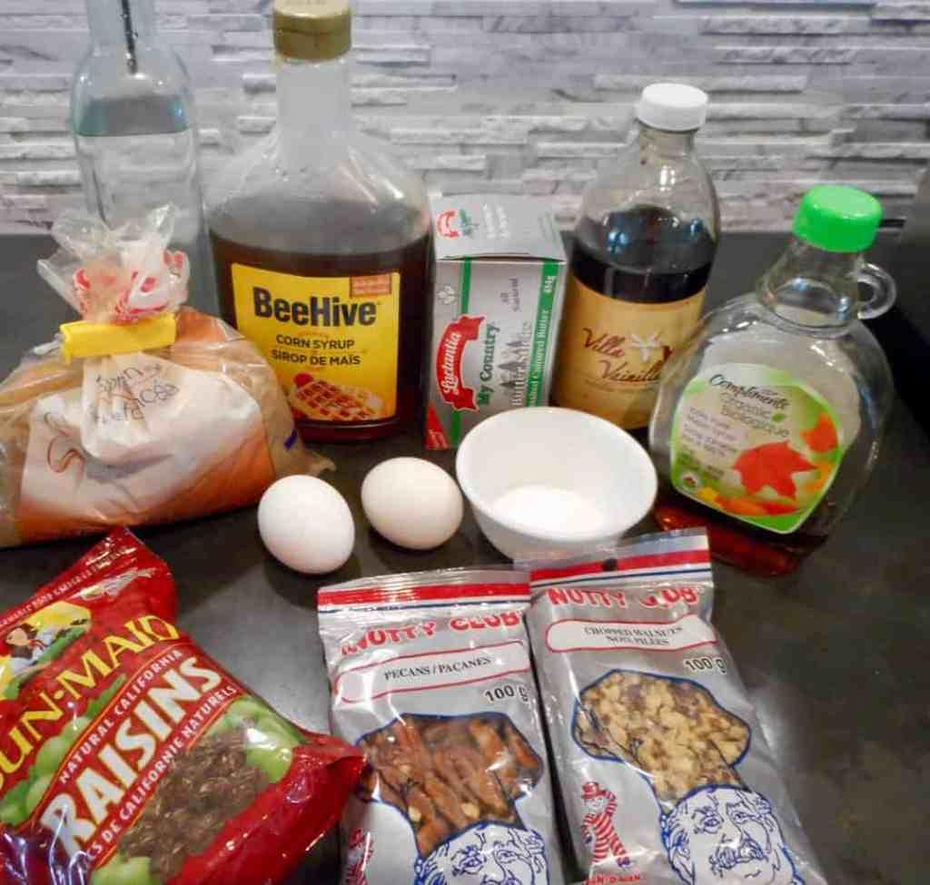 Ingredients - filling