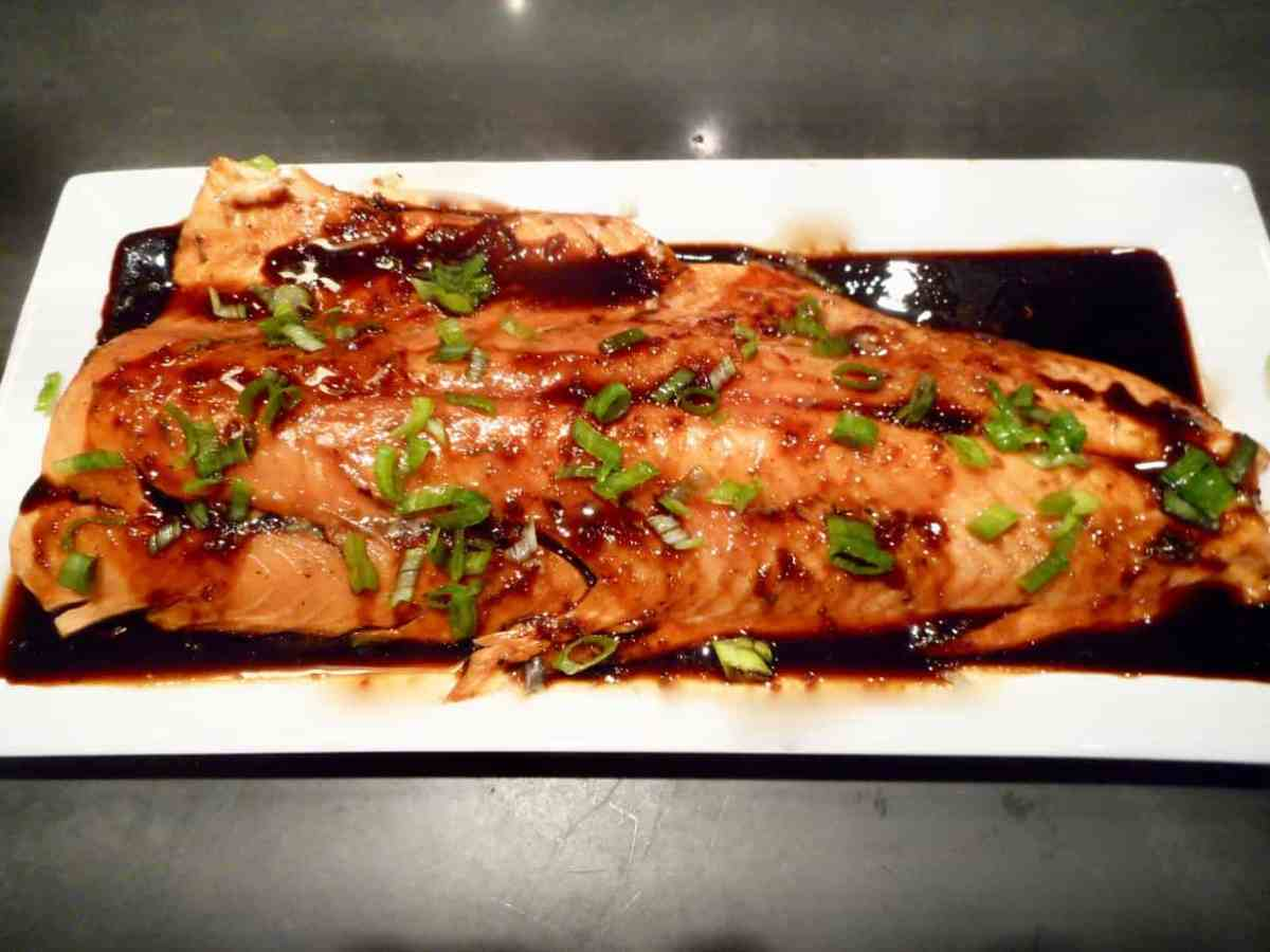 Maple-Soy BBQ Salmon