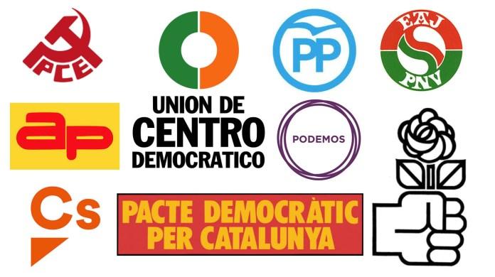 Resultado de imagen para Collage de los emblemas de los partidos españoles
