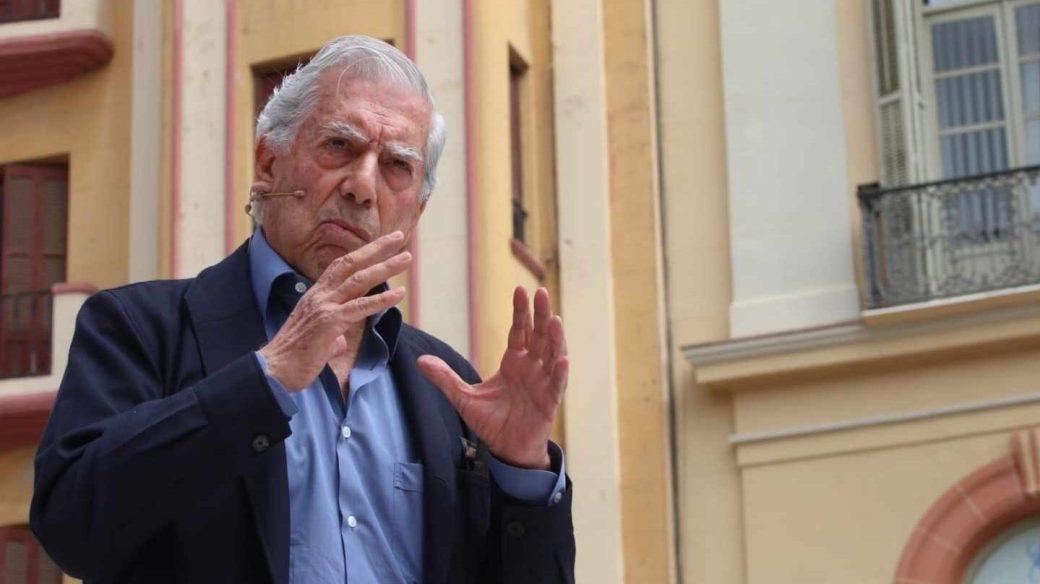 Mario Vargas Llosa, en el acto de Ciudadanos en Málaga.