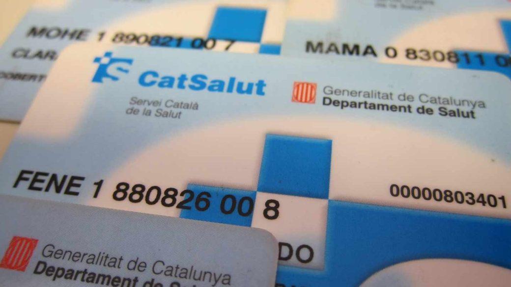 Tarjetas sanitarias en Cataluña.