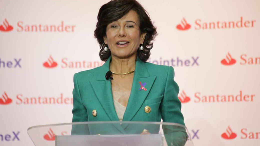 Ana Botín, presidenta de Santander, en el lanzamiento de Santander X.