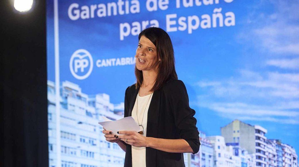Ruth Beitia, en un acto del PP en Santander.