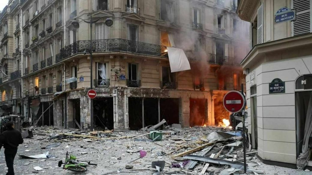 La calle de París donde ha tenido lugar la explosión.