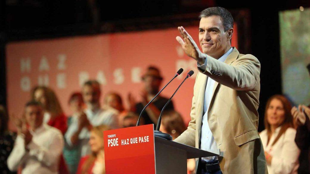 El presidente del Gobierno de España y candidato del PSOE a la reelección, Pedro Sánchez