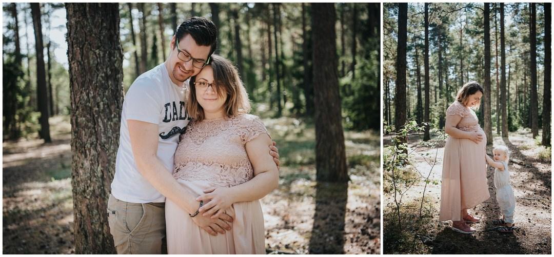 Gravidfotografering med hela familjen!