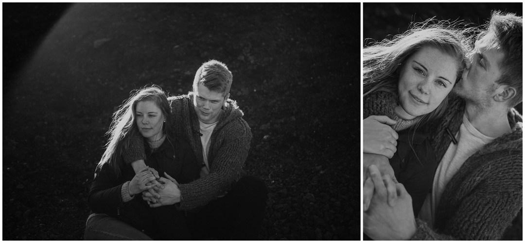 Kärleksfotografering på Island