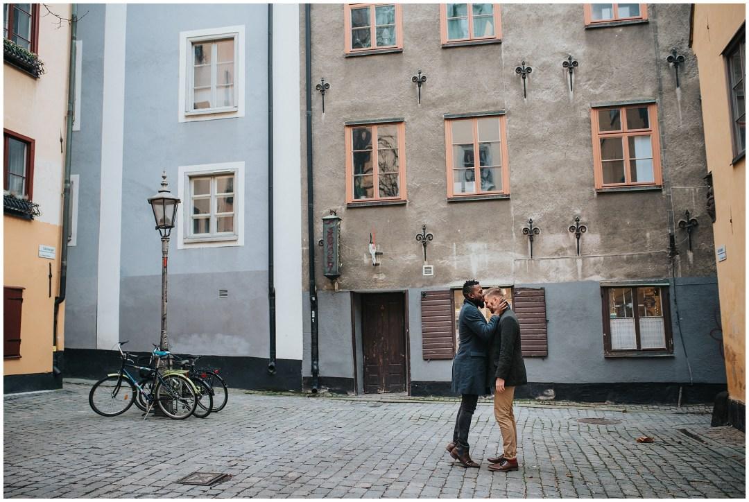 Förlovningsfotografering på Riddarholmen