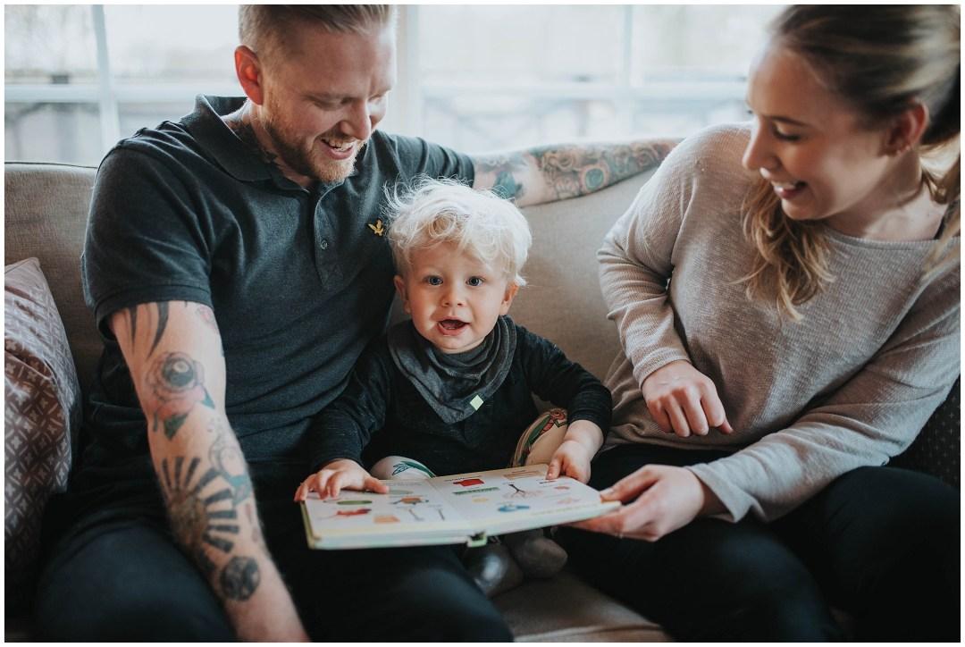 Familjefotografering hemma hos Sigges