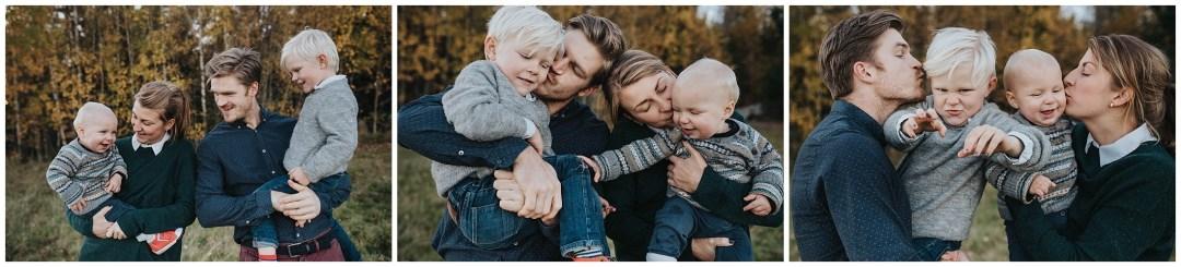 Familjefotografering med bus och skoj i Tullinge