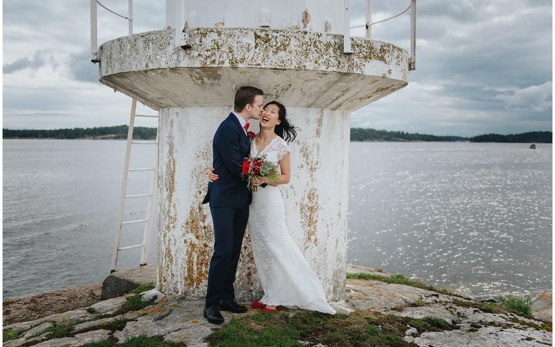 Bröllopsbild från Dalarö Skans