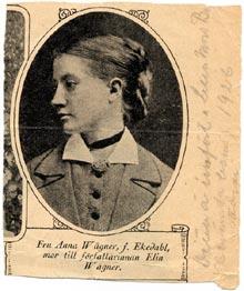 Mamma Anna Ekedahl, prostdotter från Tolg